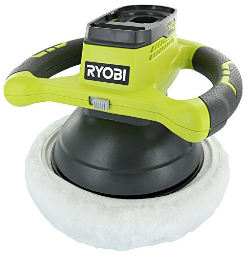 Ryobi P435 One+ 18V Lithium Ion 10 Inch 2500 RPM Cordless Orbital Buffer / Polisher with 2 Bonnets (Battery Not Included, Power Tool Only) (10 Buffer Polisher)