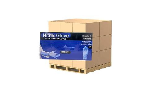 CTB Disposable Nitrile Gloves Multi Purpose Box of 100 Gloves Latex Free Dispenser Box CTBNMNGMDBX Powder-Free Size Medium