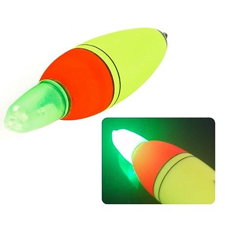 c59b8449e Bntteam 5PCS pesca galleggianti bobber galleggiante pesca set Boia schiuma  tipo LED light stick Buoy elettronico