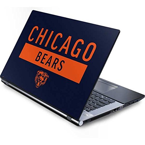 - Skinit NFL Chicago Bears Generic 17in Laptop (15.2in X 9.9in) Skin - Chicago Bears Blue Performance Series Design - Ultra Thin, Lightweight Vinyl Decal Protection