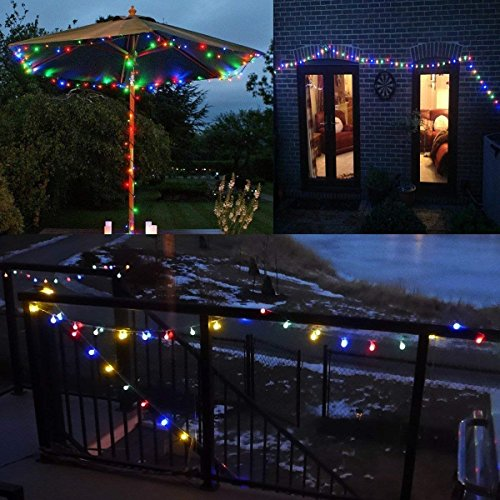 Globe String Lights, 50 LED Colored Outdoor String Lights, Battery Powered String Lights Waterproof, 18 Ft, Patio String Lights with Remote Control for Patio Garden Party Wedding Decoration by Smart&green Lighting (Image #7)