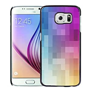 Beautiful Custom Designed Cover Case For Samsung Galaxy S6 With Gradient Color Grids Phone Case