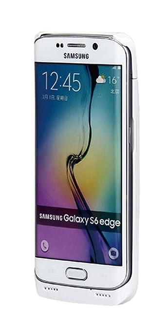 Amazon.com: Galaxy S6 Edge Estuche Protector Blanco con ...