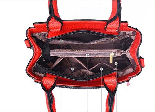 Bolso Bolsa Bolso Gules Personalidad Color Meaeo Crossbody black Hombro Pu Moda n0AaY4X