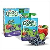 Go Go Squeez Fruit Sauce, Apple Grape, 360g per Unit (4 X 90g per Pouch)
