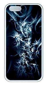Abstract Swirls Custom Case Cover Compatible with Apple iPhone 5S/5 - TPU - White by lolosakes