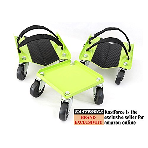 Snowmobile Ski - KASTFORCE KF2014 Snowmobile Dolly Heavy Duty 1500Lbs V-Slide With Rubber Pad Protecting Skis and 2 Pairs of Heavy Duty Straps Firmly Attaching on Skis