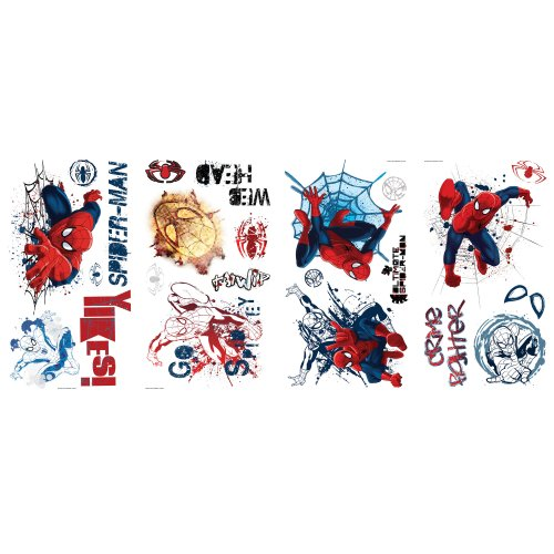 Ultimate Spider Man Graphic Peel and Stick Wall Decals, 1-Pack (Repositionable Ultimate Wall Appliques)