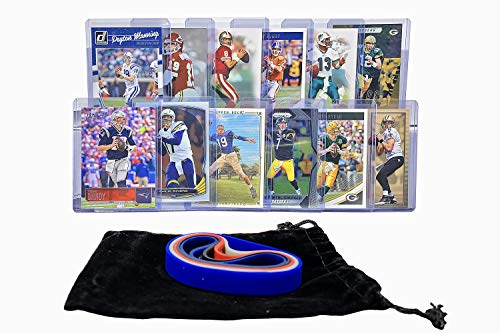 Football Cards: QB Goats (12) Tom Brady, Drew Brees, Peyton Manning, Dan Marino, Steve Young, Aaron Rodgers, Joe Montana, Brett Favre, Ben Roethlisberger, Philip Rivers, Johnny Unitas, John Elway Card