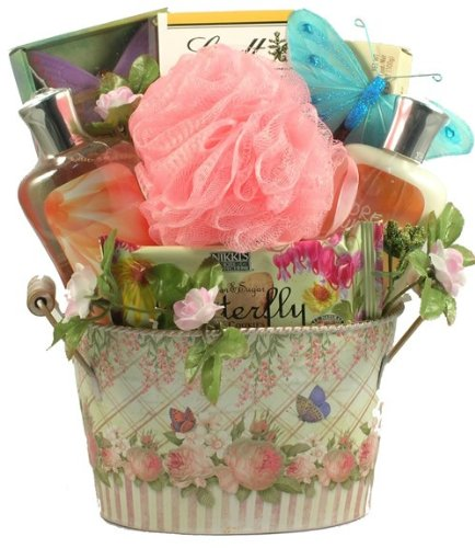 (Gift Basket Village English Garden Collection Spa and Gourmet Gift Basket, Small)
