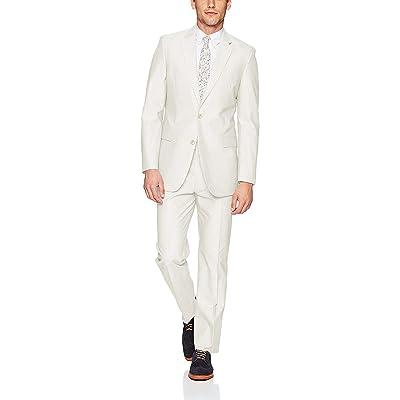 Adam Baker Men's (Groomsmen) Modern Fit Luxury Linen Formal Suit Set - Colors at Men's Clothing store