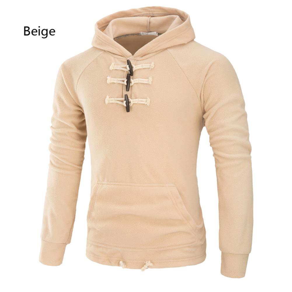 Männer Hoodie - Weich Und Warm Slim Casual Wear,Beige,M