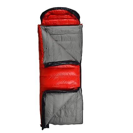 LOLIVEVE Saco De Dormir para Acampar Al Aire Libre Adulto Ultra Ligero Sobre del Ganso del