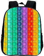 pop it ryggsäck väska flicka pojkar skolryggsäck ryggsäckar för barn skola skolväska, 3D-tryck vattentät, gåva