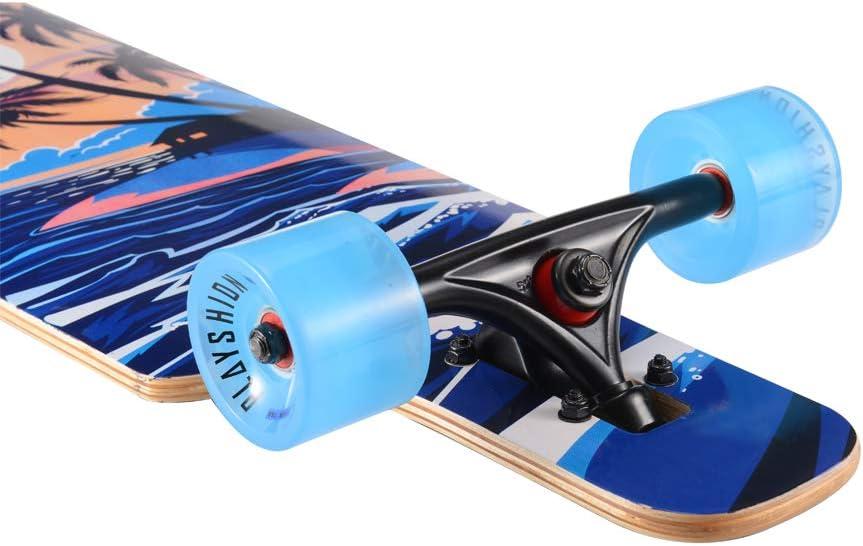 Playshion Drop Through Freestyle Longboard - 4