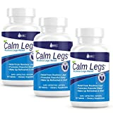 Calm Legs Natural Sleep Aid for Natural Itching, Crawling, Tingling and Leg Jerk Relief with Iron, Magnesium, and Valerian Root (60 Tablets) (90 Day Supply (Save 10))