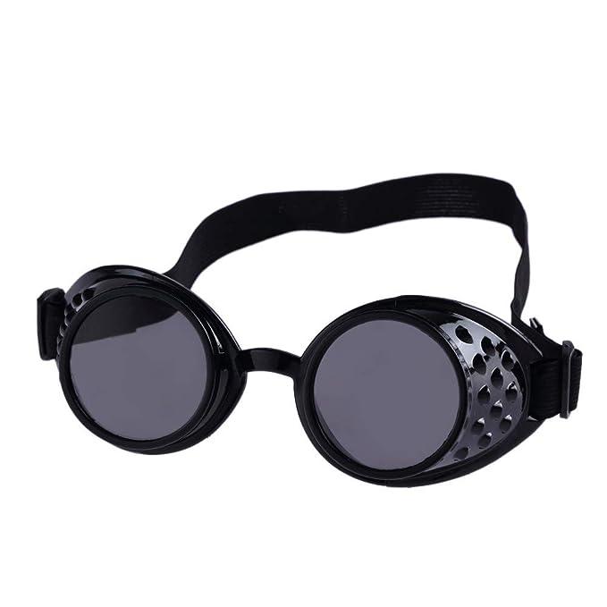 ZORE 💍 Estilo Vintage Steampunk Gafas de Soldadura Gafas Punk Cosplay Joyeria (Black): Amazon.es: Ropa y accesorios