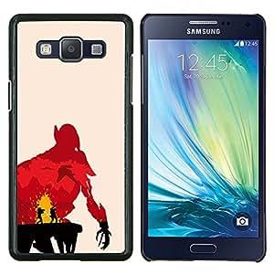 /Skull Market/ - Jedi Duel For Samsung Galaxy A5 A5000 A5009 - Mano cubierta de la caja pintada de encargo de lujo -