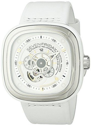 SEVENFRIDAY Men's P1-2 BRIGHT Analog Display Japanese Automatic White Watch by SEVENFRIDAY