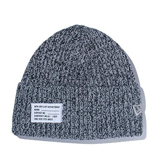 (ニューエラ) NEW ERA ニット帽 ミリタリー PATCH グレー/アイボリー FREE