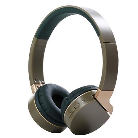 Qoosea Cuffie Bluetooth Auricolari Stereo con Microfono Bluetooth 4.2 Pieghevole  Over-Ear Senza Fili Cuffie fa32c6a7ab66