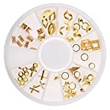 3D Nail Art Rhinestone Gold Charms Tip DIY Decoration Manicure Wheel