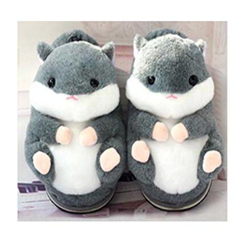 Chaudes d'hiver Coton de de Coton Bleu Maison Pantoufles Mignon antidérapantes Pantoufles Hamster W8wvqxB