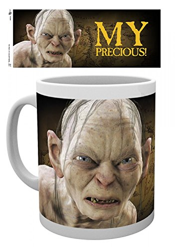 1art1 Set: The Lord of The Rings, Gollum, My Precious Photo Coffee Mug (4x3 inches) and 1x Surprise Sticker