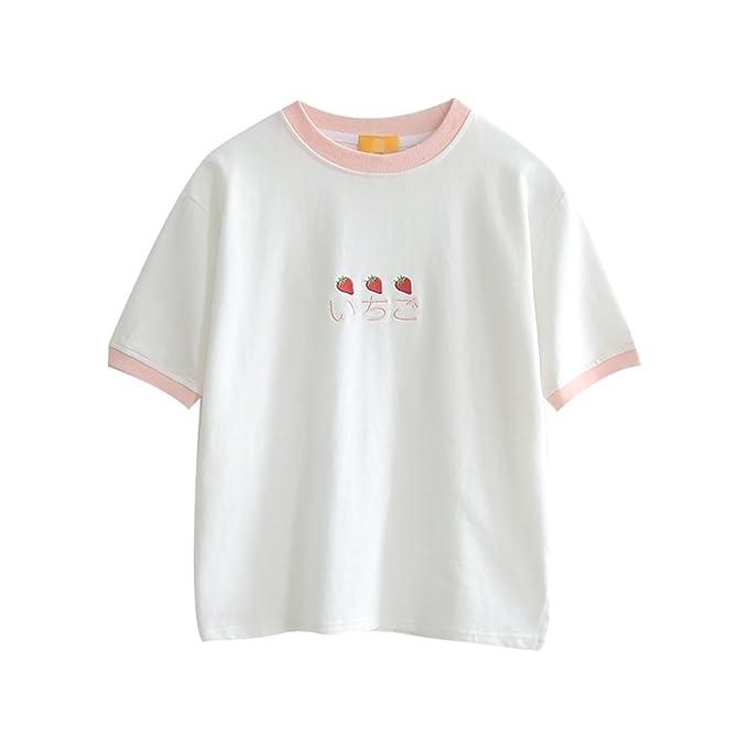 ec8ffe23efa914 Frauen - t - Shirts süß erdbeer - mädchen Kurze ärmel Tops für den Sommer