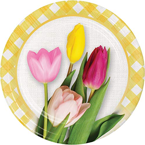 Spring Tulips Dessert Plates, 24 -