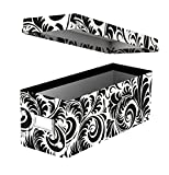 Snap-N-Store CD Storage Box, Black/White Scroll (SNS01913)