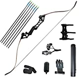 IRQ 60 inch Archery Takedown Bow Set Recurve Hunting Longbow Right Hand