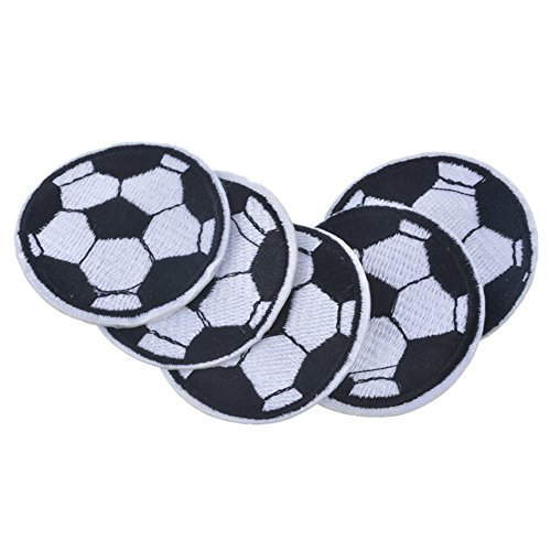 - XUNHUI Soccer Ball Patches Embroidered Patches for Clothing Iron On Football Patches for Jeacket Pants 5Pieces 4.8cm
