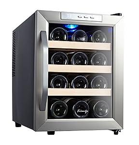 Kalamera 12 Bottle Counter Top Stainless Steel Wine Cooler Refrigerator