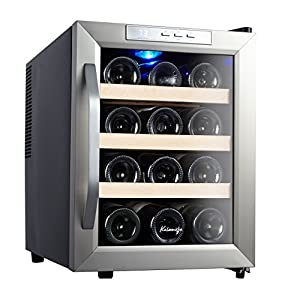 Kalamera 12 Bottle Counter Top Stainless Steel Wine Cooler Refrigerator : Holds temp fine.