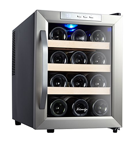 Kalamera 12 Bottle Counter Top Stainless Steel Wine Cooler Refrigerator (Small Wine Refrigerator compare prices)