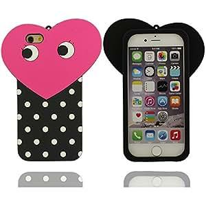 Claro moda forma de amor lindo diseño de la historieta cubierta de la caja Carcasa protectora de silicona suave case para Apple iPhone 6 plus / 6S plus 5.5 inch