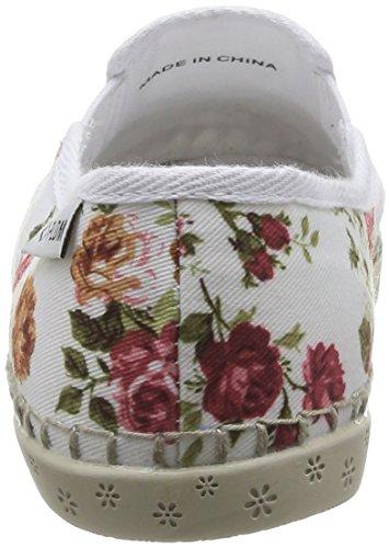 PLDM by Palladium Bora Damen Espadrilles Weiß - Blanc (Flower/White)