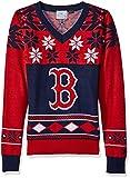 Boston Red Sox Womens Big Logo V-Neck Sweater Small