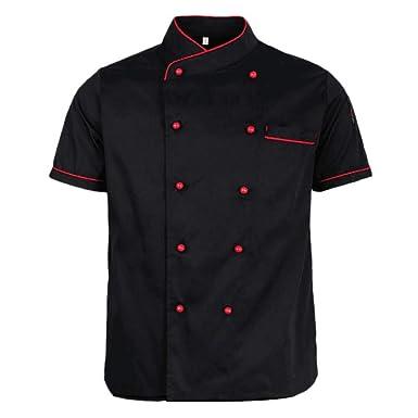 RIsxffp Doble botonadura chaqueta de cocinero abrigo de ...