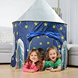 """USA Toyz Kids Play Tent - """"Rocket Ship"""" Kids Tent for Girls and Boys + Playhouse Tent Toddler Toys Projector for Indoor Tent or Outdoor Tent Fun"""