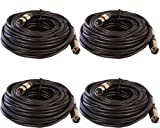 XLR Male to Female Mic Extension Cables Serviceable Ends (4 pack, 50ft)