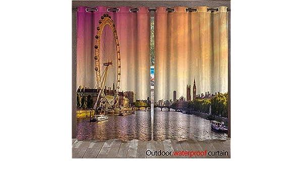 BlountDecor London - Cortina de Ventana con Visera de Atardecer en ...