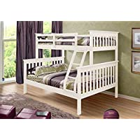 Twin Over Full Mission Bunkbed in White