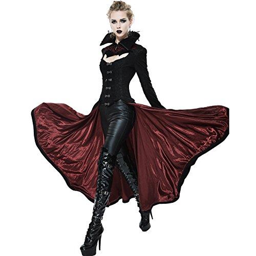 Devil Fashion Gothic Dark Vampire Queen Style Jacket for Women (Red, XXX-Large) ()