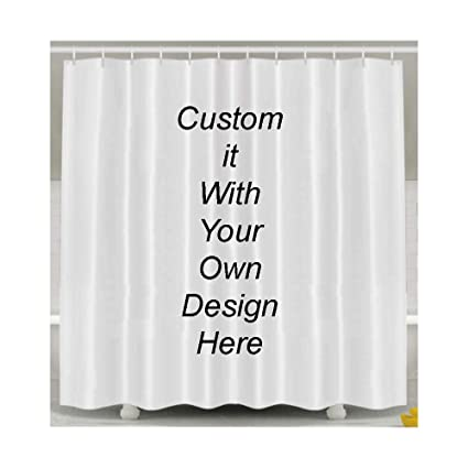 Amazon Nidengbao DIY Bathroom Shower Curtain Set Custom