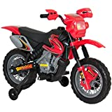 Best Choice Products Kids 6V Electric Ride On Motorcycle Dirt Bike w/ Training Wheels - Red
