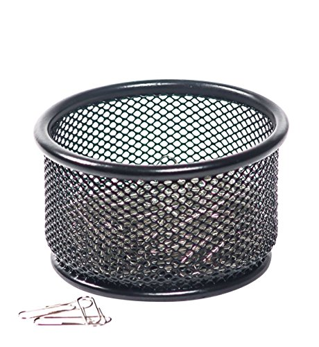 Brenton Studio Metro Mesh Paper Clip Holder, Black ()