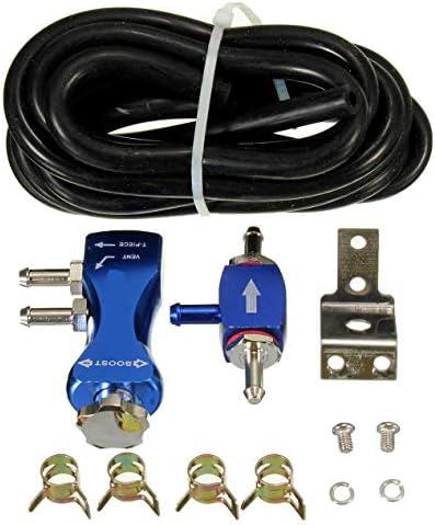 調整可能な手動車ターボブーストバルブコントローラーブースターキットユニバーサル-青