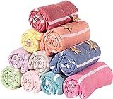 Sale Set of 4 XL Towel Turkish Hamam Peshtemal Cotton Bath Face Towel Spa Bath